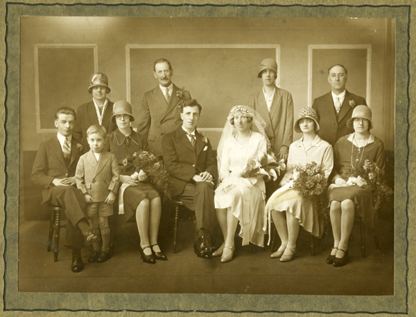 Wedding photograph, Oxford Studios late 1920s