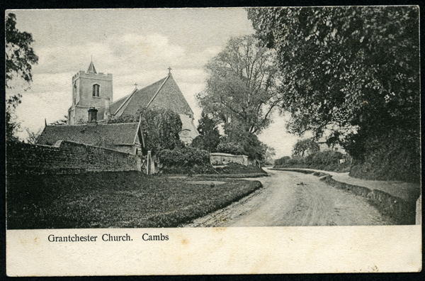 Postcard view of Grantchester Church by SF Talbot