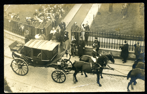 Postcard by Talbot of 1904 Royal Visit to Cambridge